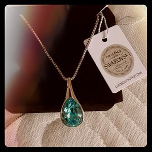 Swarovski crystal pendant.